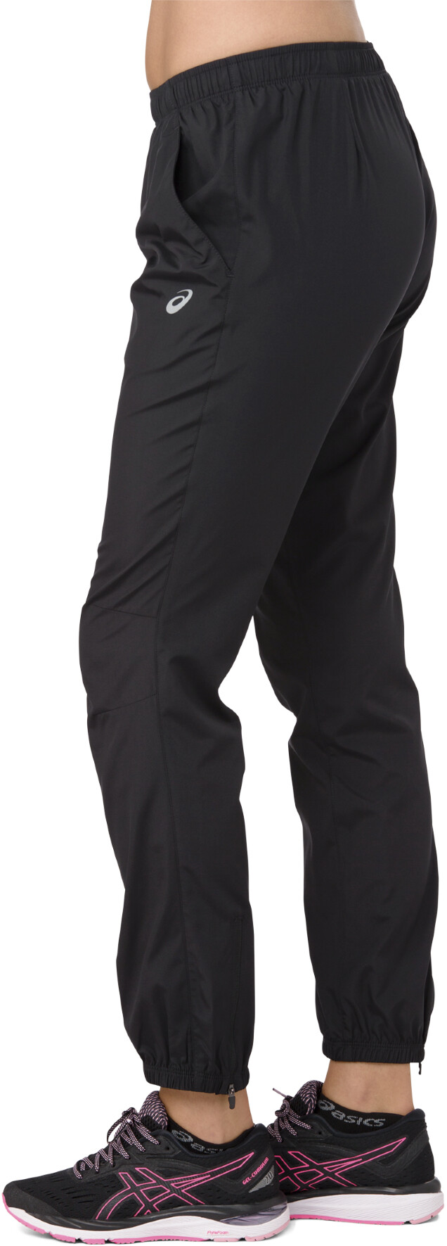 e7310f033 asics Silver Woven Pants Women performance black
